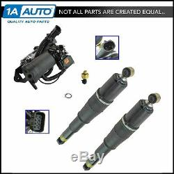 Air Ride Suspension Compressor with Dryer Rear Shock Absorber Kit Set 3pc New
