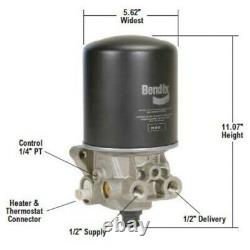 Bendix 800887 Air Dryer Assembly Ad-sp, 12v Heater / Bw800887
