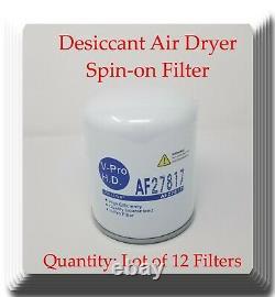 (Lot of 12) Brake Air Dryer Filter FitsMack, M. A. N. Mercedes Freightliner Volvo