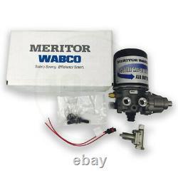 Meritor Wabco R955205 Air Dryer OEM, Ports 1/2 NPT, 1/4 NPT, 1200SS 12V 100