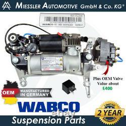 Volkswagen Touareg 7l'04-10 Compresseur De Suspension D'air Oem & Solénoïde 7l0698853c